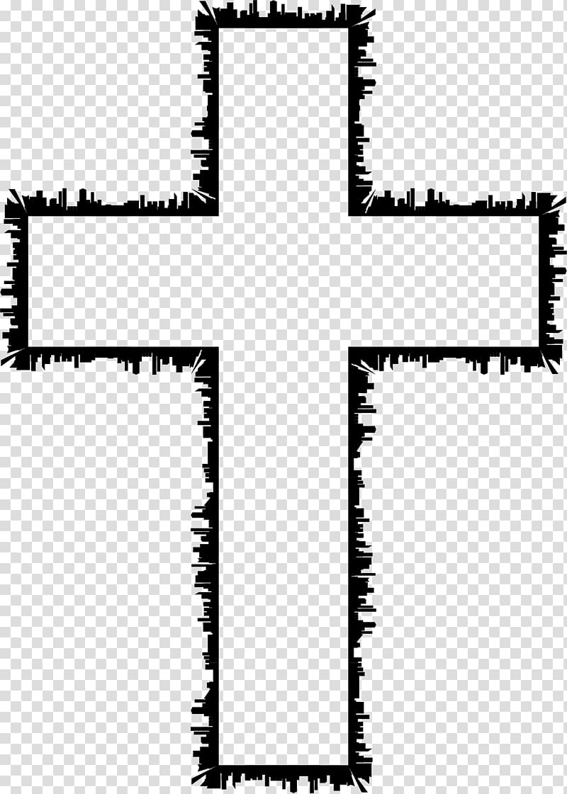 Black crucifix illustration, Christian cross Crucifixion of.