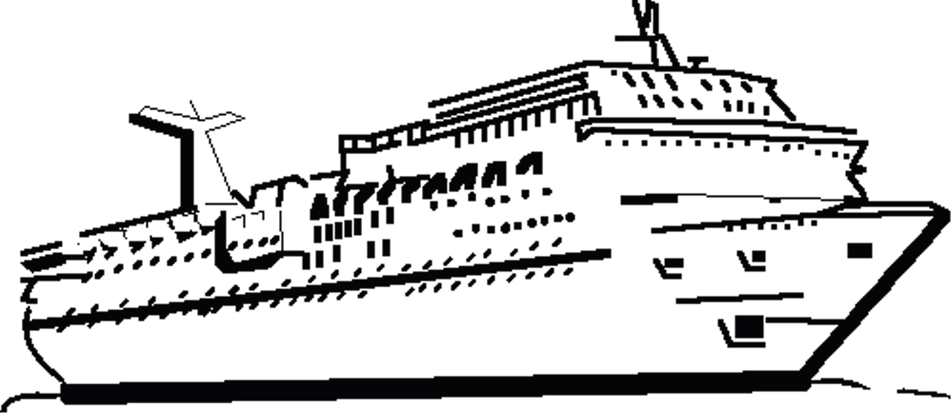 Free Cruise Ship Black And White, Download Free Clip Art.
