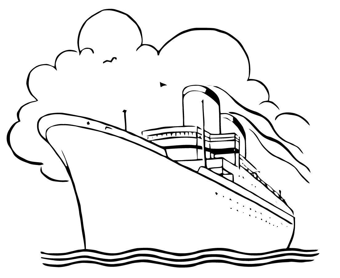 Boat black and white cruise ship black and white clipart.
