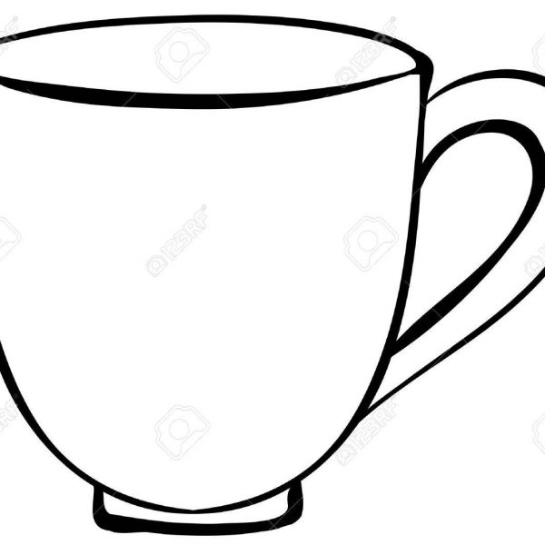 Closeup Plain Design Of Coffee Cup Royalty Free Cliparts, Vectors in.