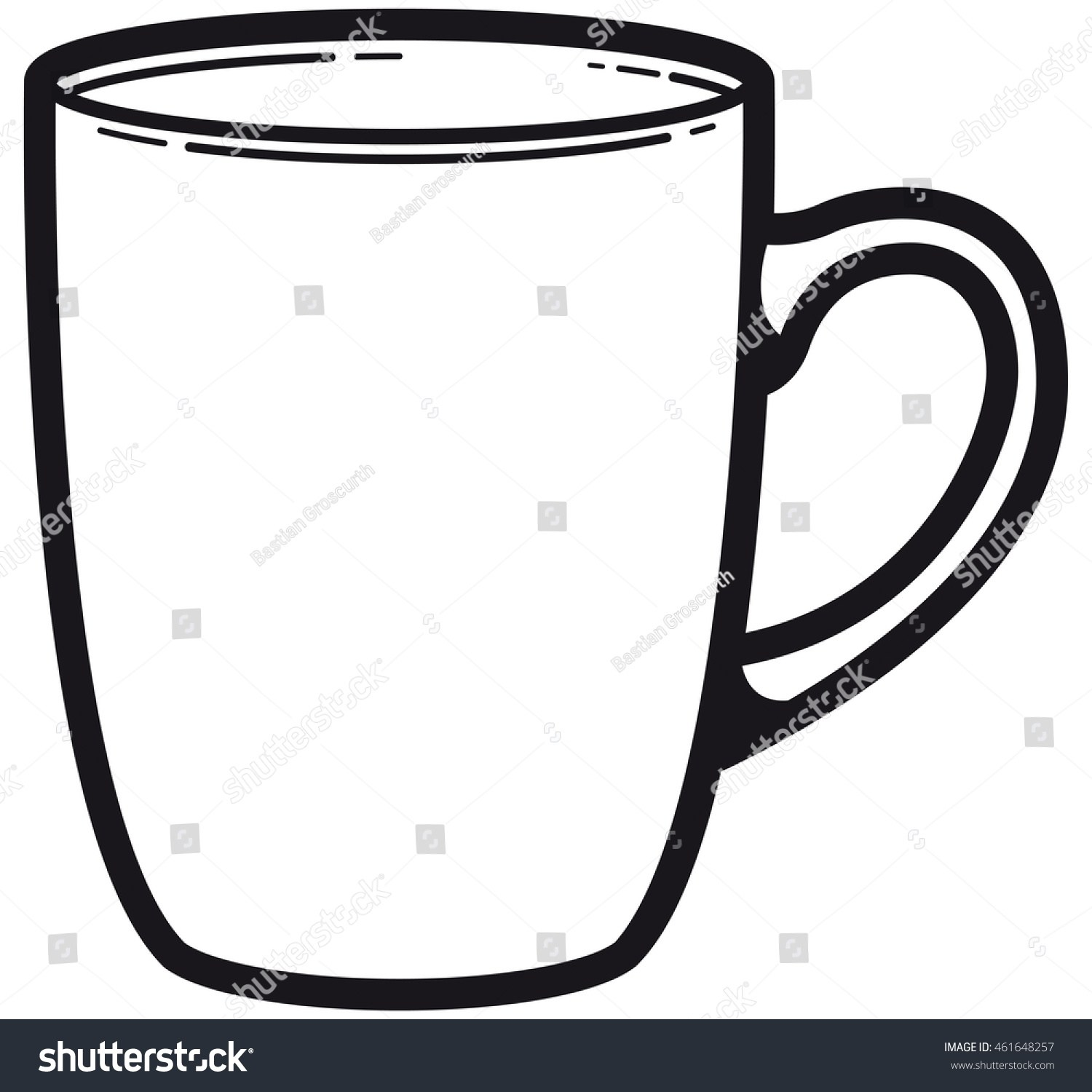 Clipart black and white cup 3 » Clipart Portal.