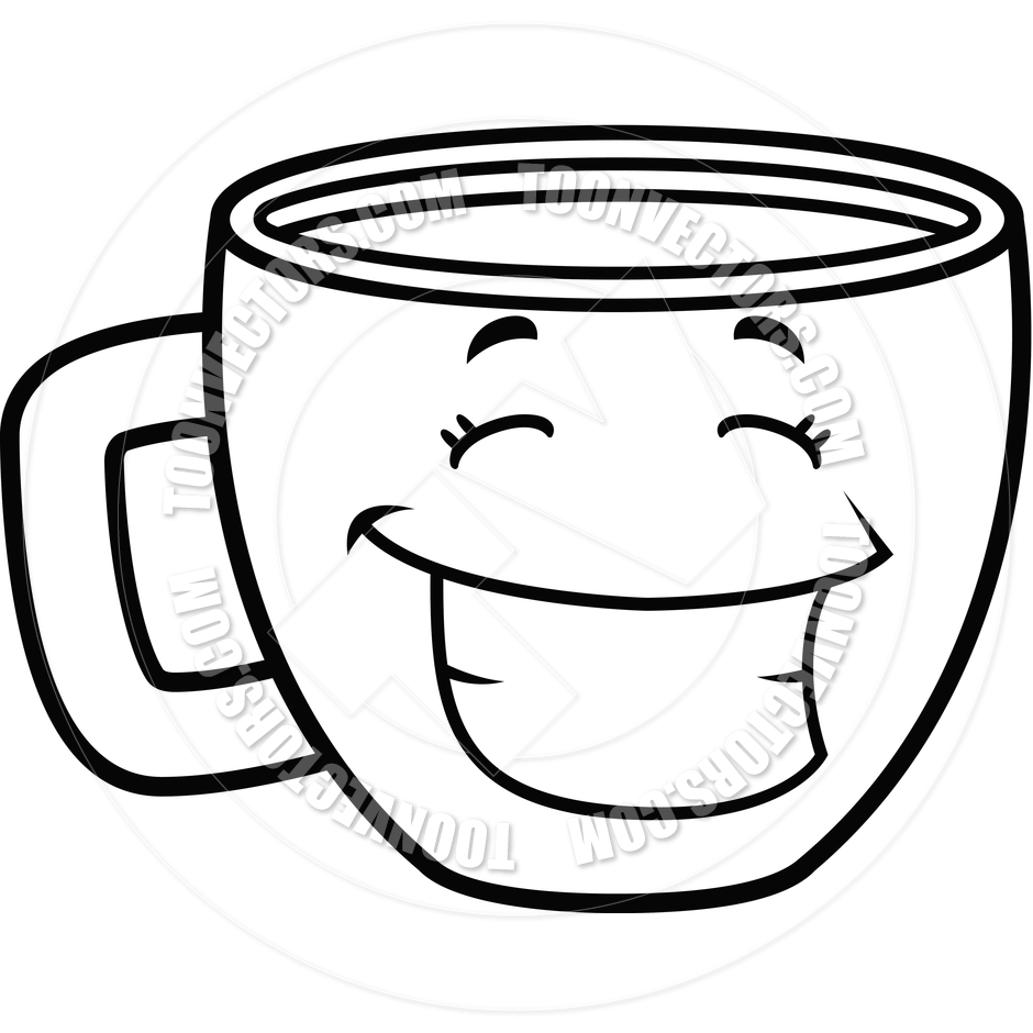 Cup Clipart Black And White.