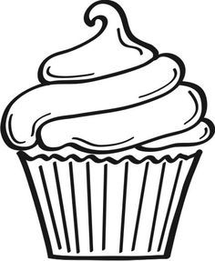 5 Best Images of Printable Birthday Cupcake Outlines.