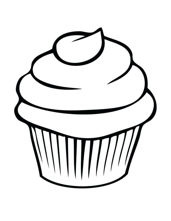 Black And White Cupcake Clipart 84 Images In Collection Page 1.