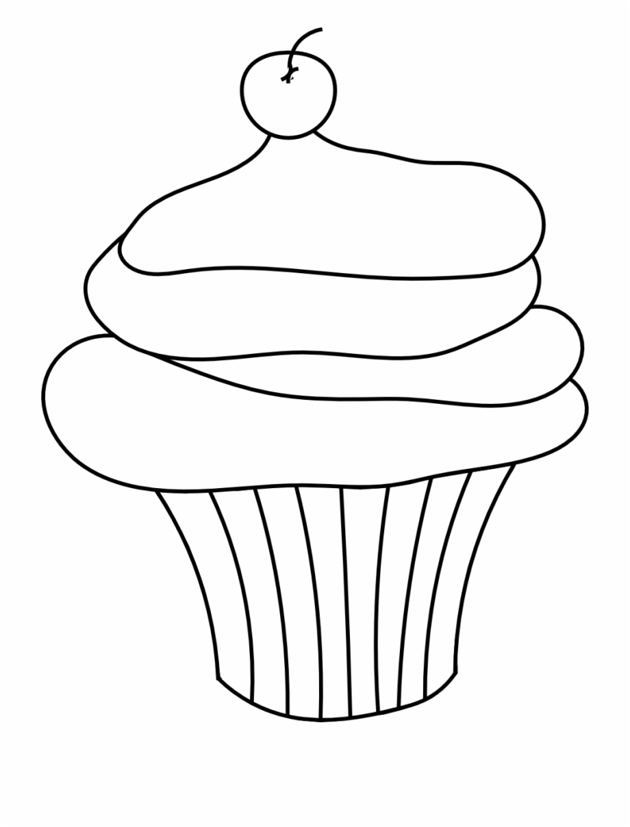 Cupcake Black And White Cupcake Outline Clipart Black.