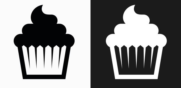 Cupcake Clipart Black And White Illustrations, Royalty.