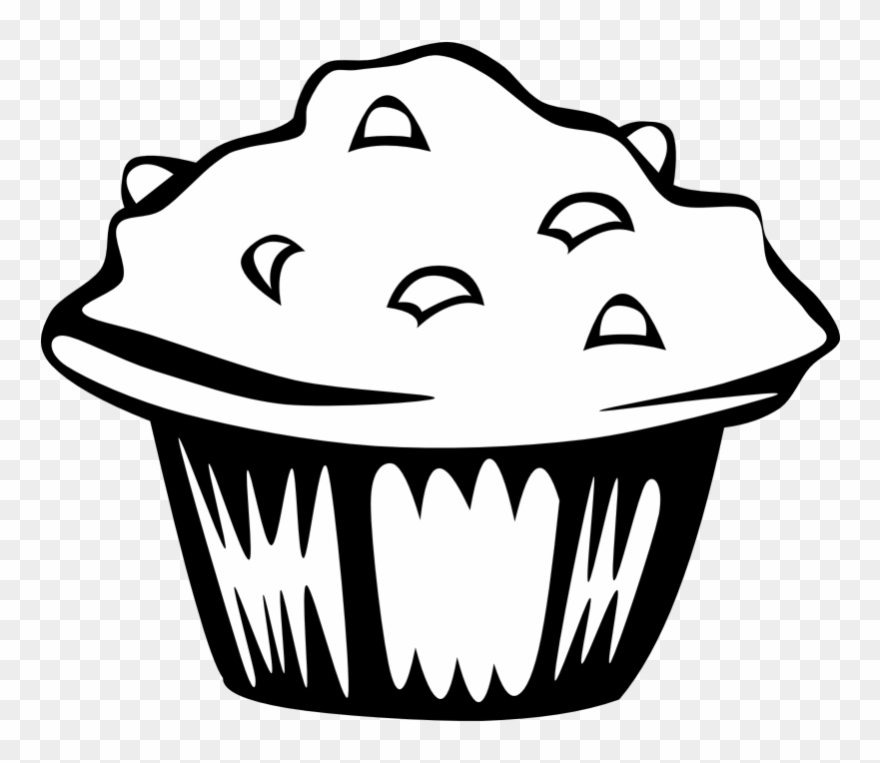 Muffin Clipart Black And White.