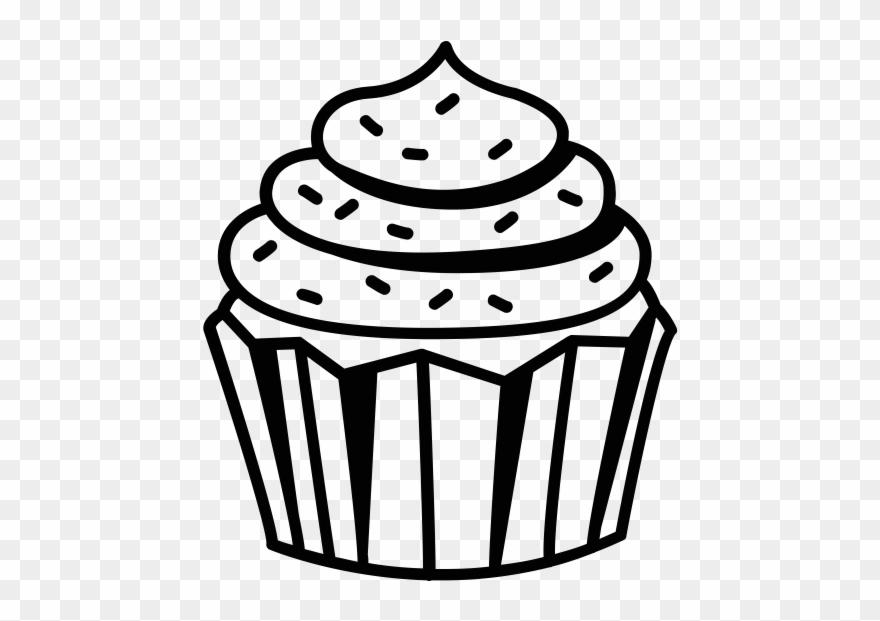 Cupcake Clipart Black And White Black And White Cupcake.