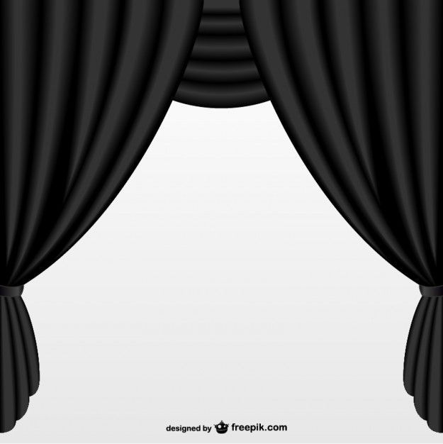 Simple black curtain Free Vector in 2019.