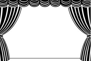Stage Clipart Black And White.