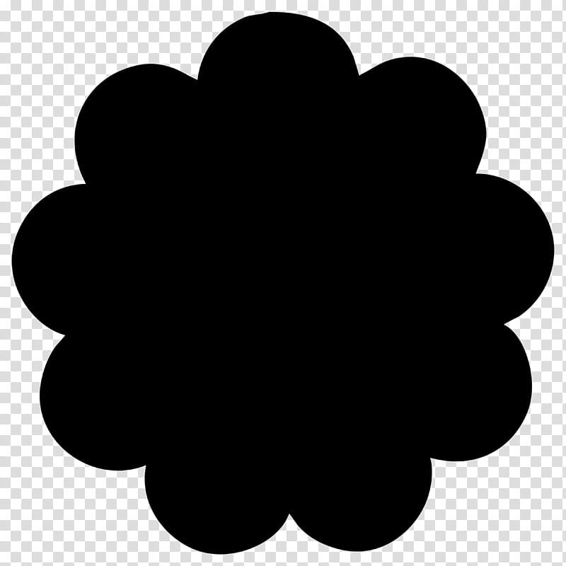 May Flower Custom shapes, black cloud transparent background.