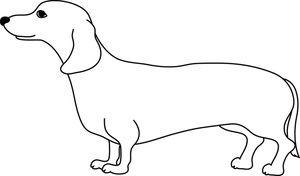 Weiner Dog Clipart Image: Cute adult weiner dog or dachshund.