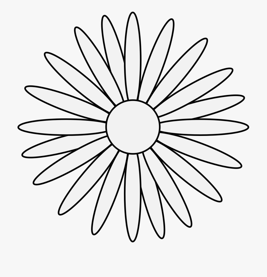 Daisy Clipart Traceable.