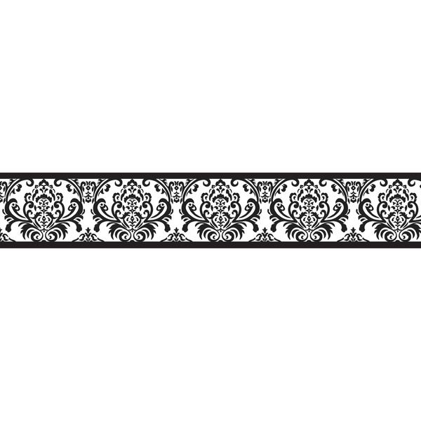 Free Black And White Damask Wallpaper Border, Download Free.