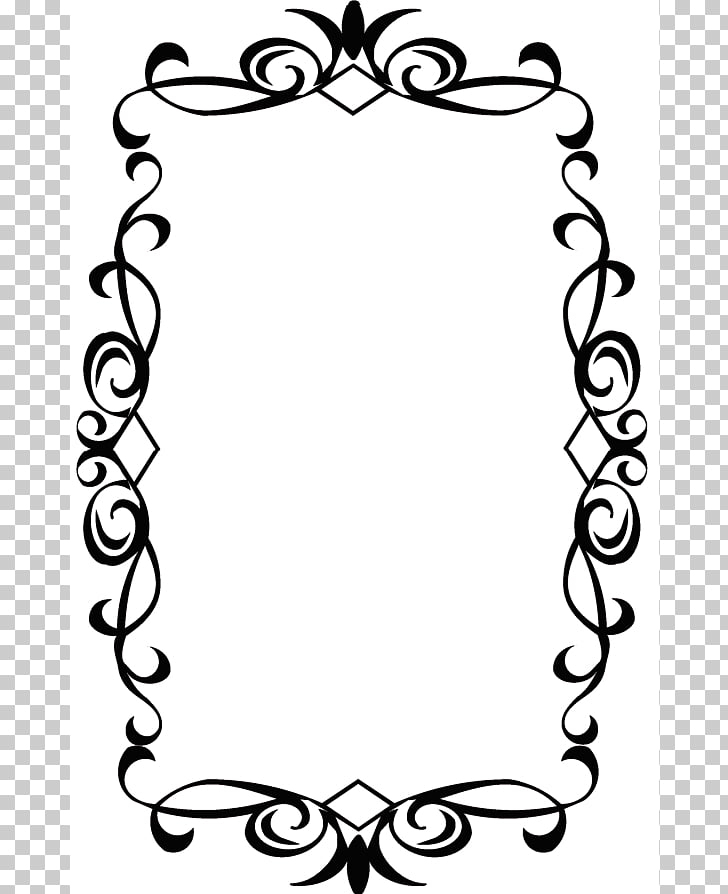 Borders and Frames Frames , Black Damask Background PNG.