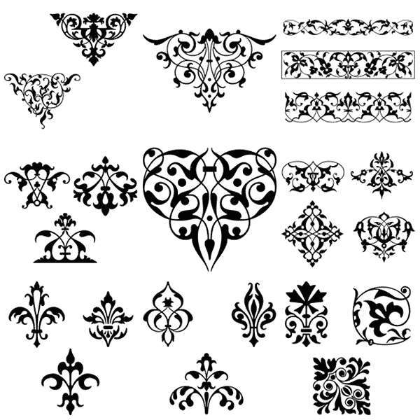 Gorgeous Free Vintage Frames Borders & Ornaments II.