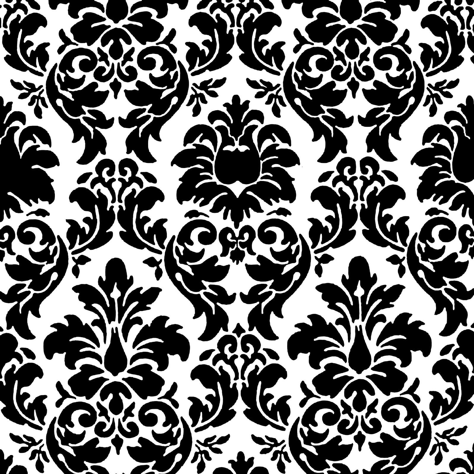 Free Black And White Damask Pattern, Download Free Clip Art.