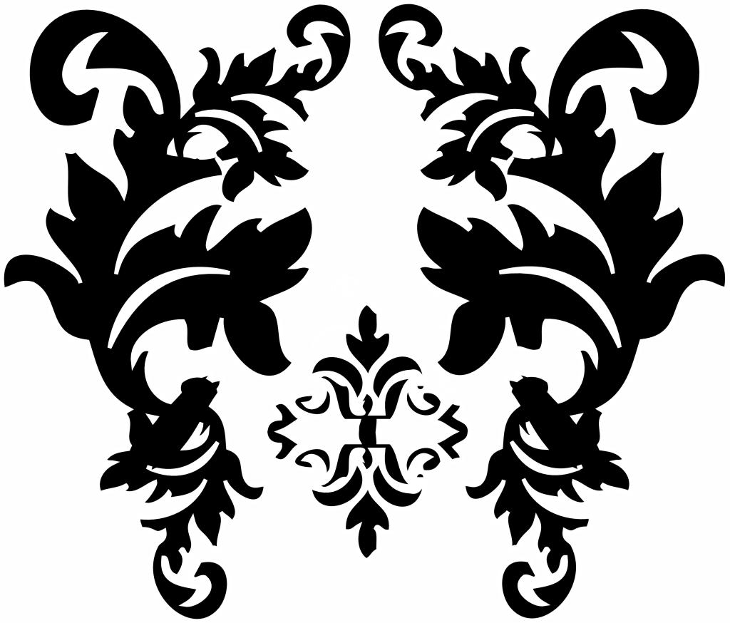 Free Black Damask Background, Download Free Clip Art, Free.