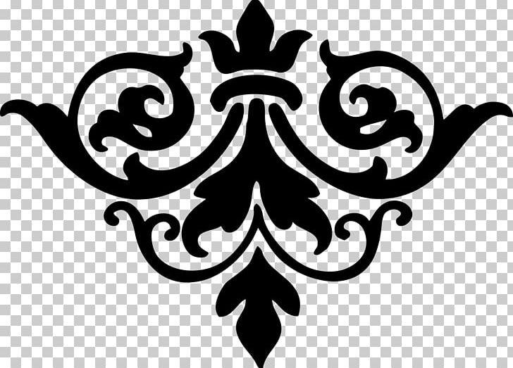 Damask PNG, Clipart, Artwork, Black, Black And White.