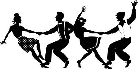 1,433 Swing Dancing Cliparts, Stock Vector And Royalty Free Swing.
