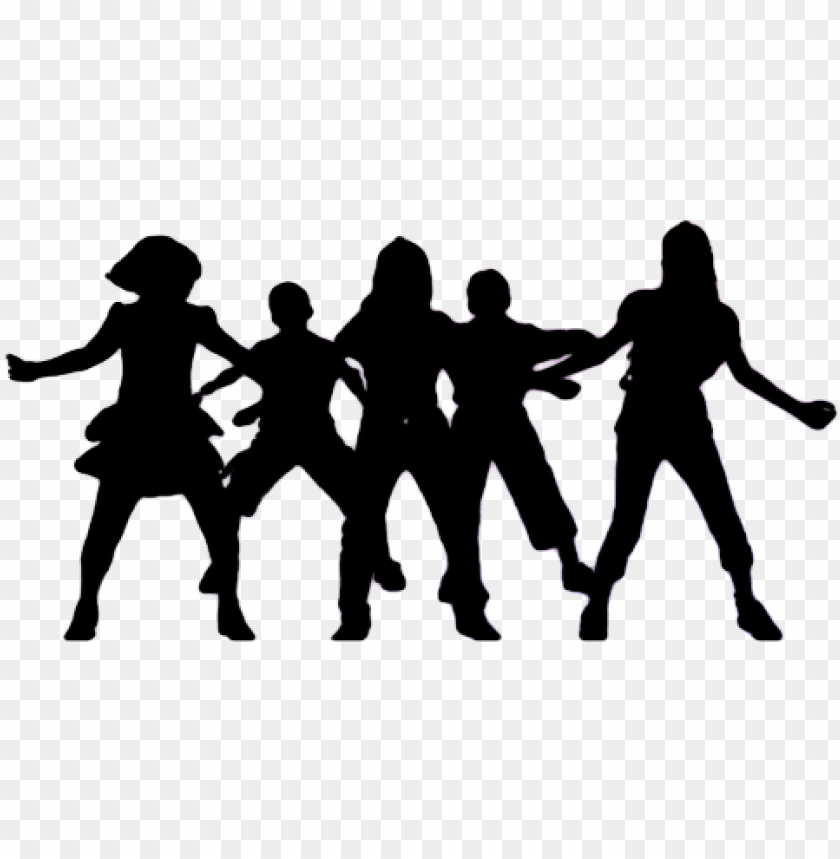 roup dancing silhouette png picture black and white.