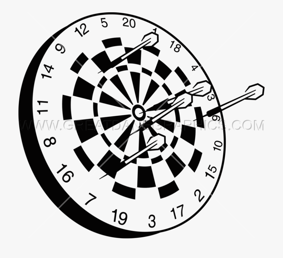 Dart Board Black And White Png , Transparent Cartoon, Free.