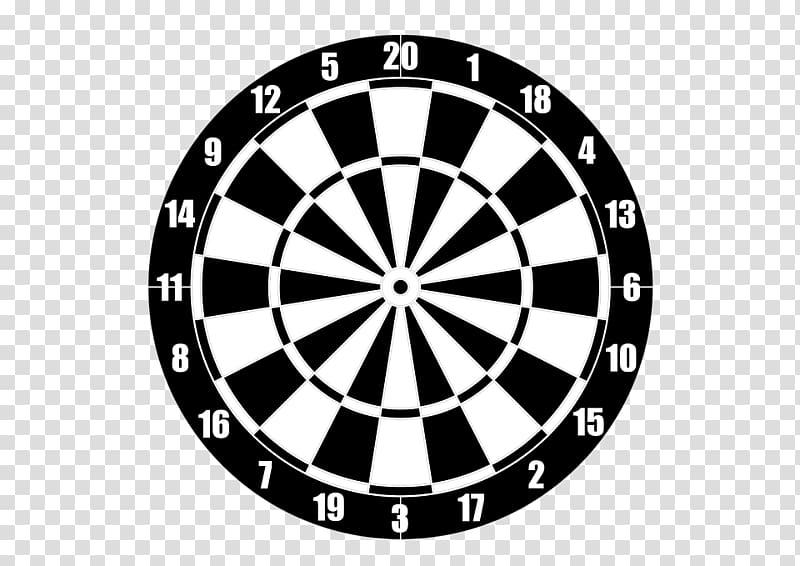 White and black dartboard, Darts Design Logo Pattern, Target.