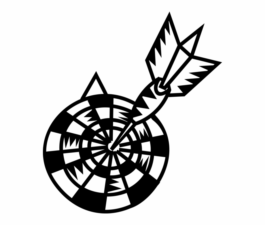 Free Dart Clipart Black And White, Download Free Clip Art.