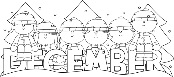 December clipart black and white 3 » Clipart Station.
