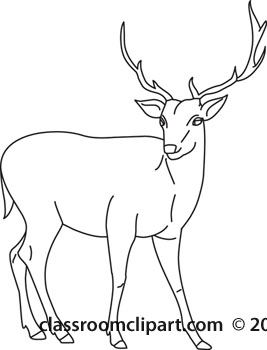Free Black And White Deer Drawing, Download Free Clip Art.