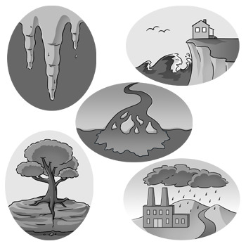 Weathering and Erosion Clip Art: Set 2 of 2.