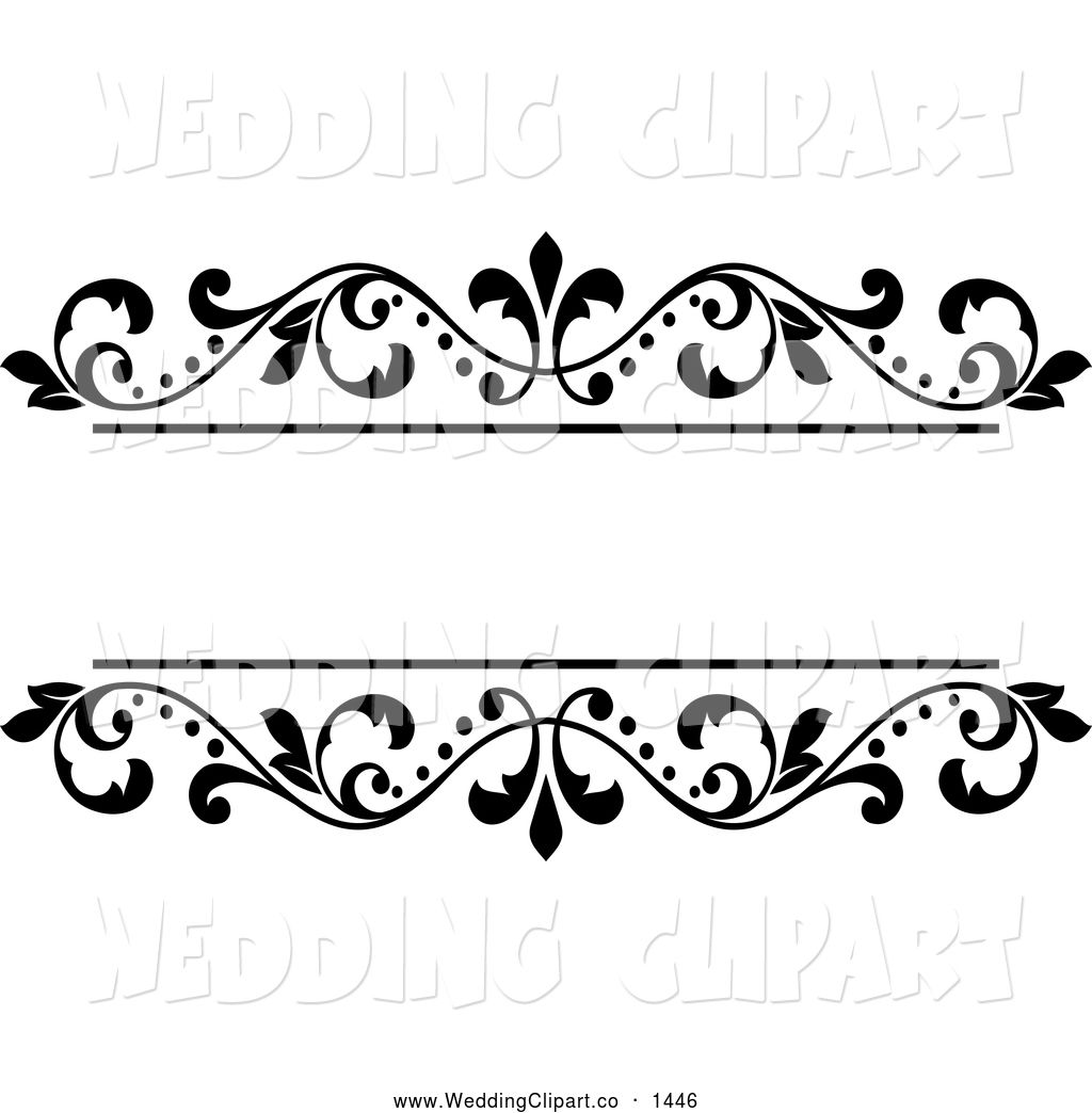 Royalty free vector bridal clipart of a black and white.