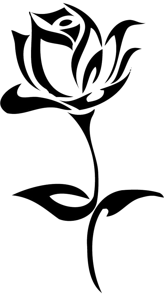 Download Tattoo Rose Hand Black Drawn Flowers Drawing Clipart PNG.