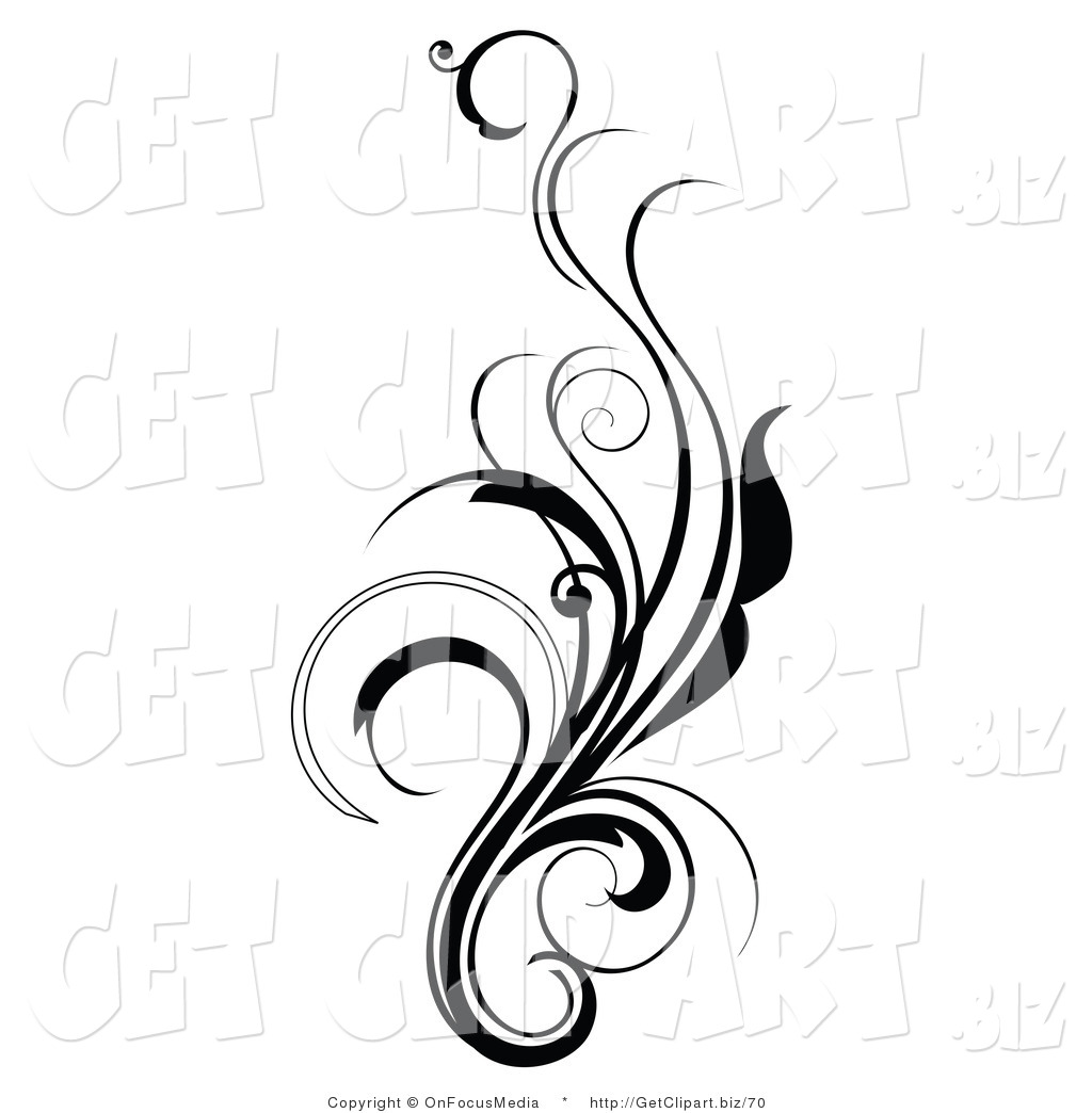 Black And White Design Clipart.