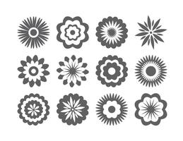 Flower Silhouette Free Vector Art.