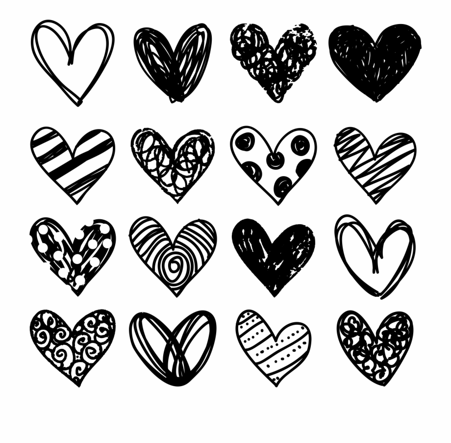 Black Heart Free Doodle Heart Clip Art Pretty Things.