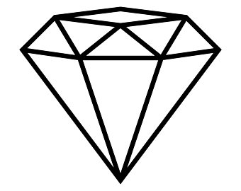 Diamond black and white clipart » Clipart Station.