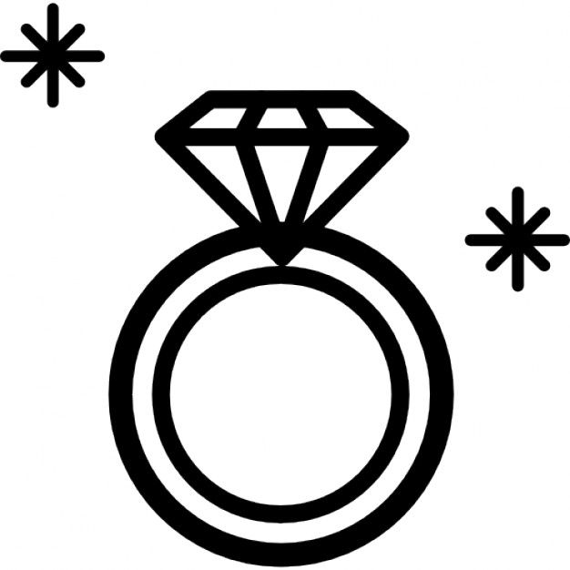 Diamond ring clipart black and white 1 » Clipart Station.