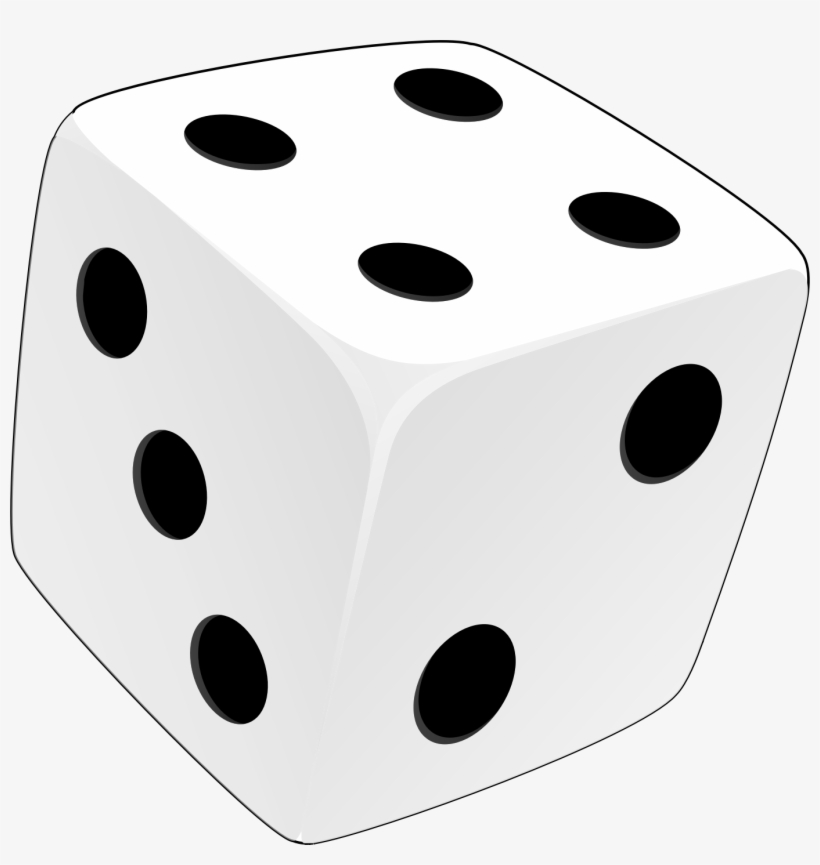 White Dice Png Clip Art Black And White.