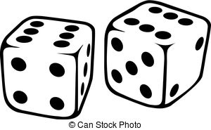 Dice clipart black and white 1 » Clipart Station.