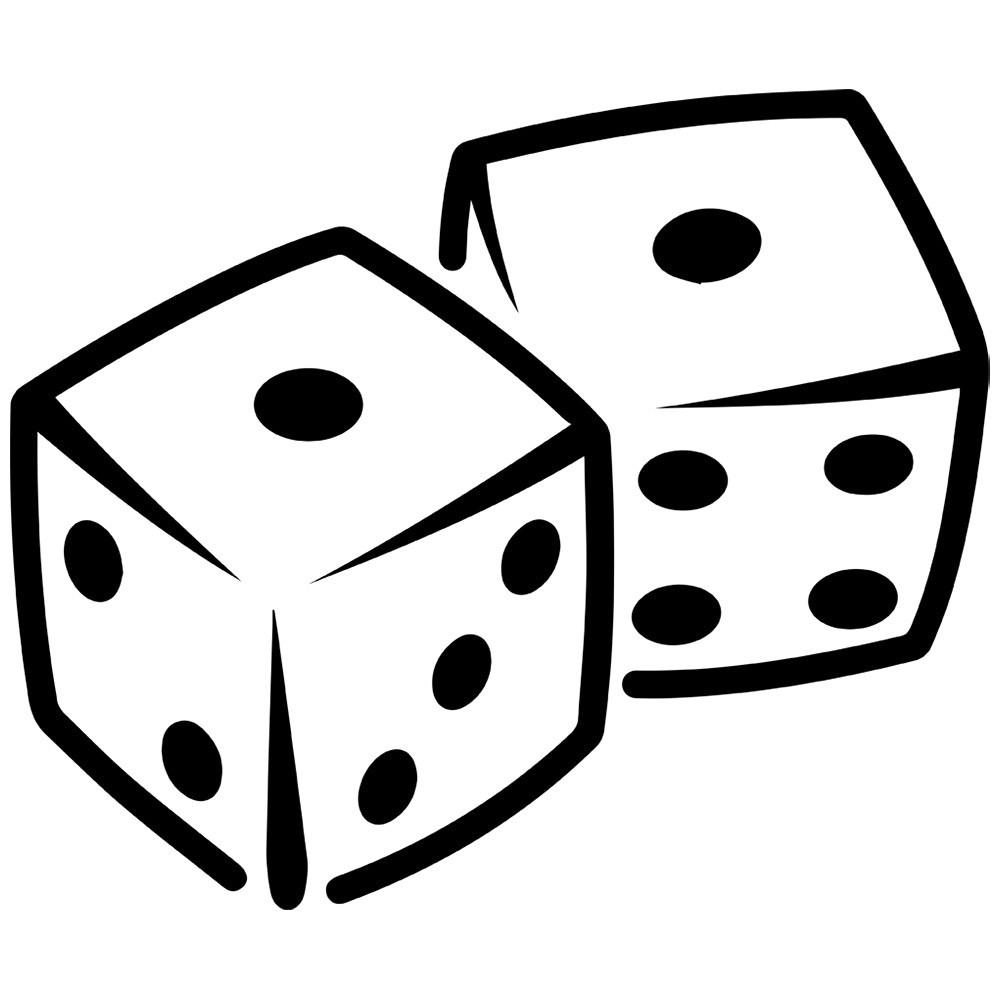 Black and white dice clipart 1 » Clipart Portal.