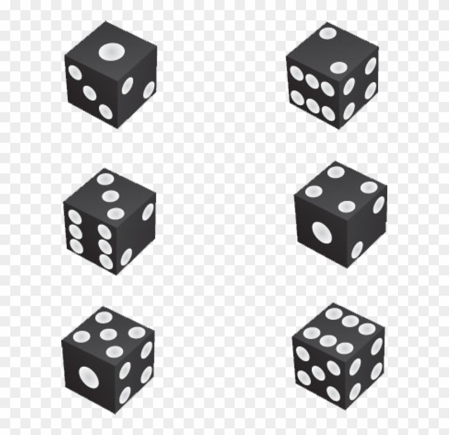 Black And White Dice Clipart.