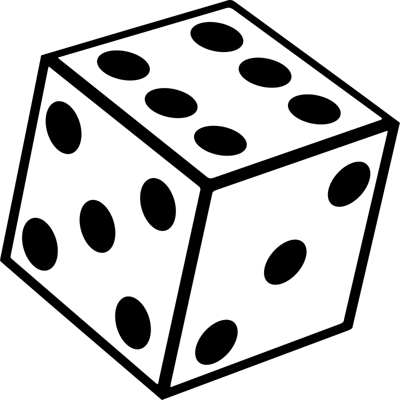 Black And White Dice Clipart (91+ images in Collection) Page 1.