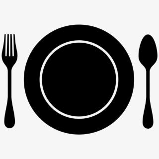 Dinner Clipart Black And White.