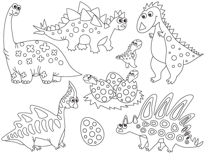 70% OFF SALE Black And White Dinosaur Clipart.