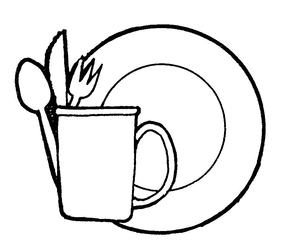 Dishes clipart Elegant Best Dishes Clipart Black And White.