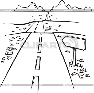 Road clipart black and white 3 » Clipart Station.