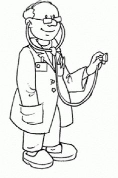 Doctor Black And White Clipart.