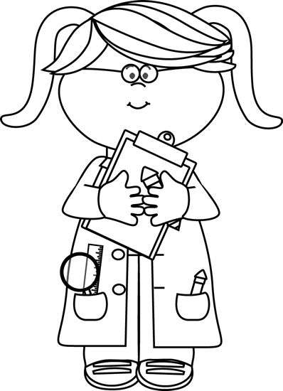 Girl Doctor Clipart Black And White.