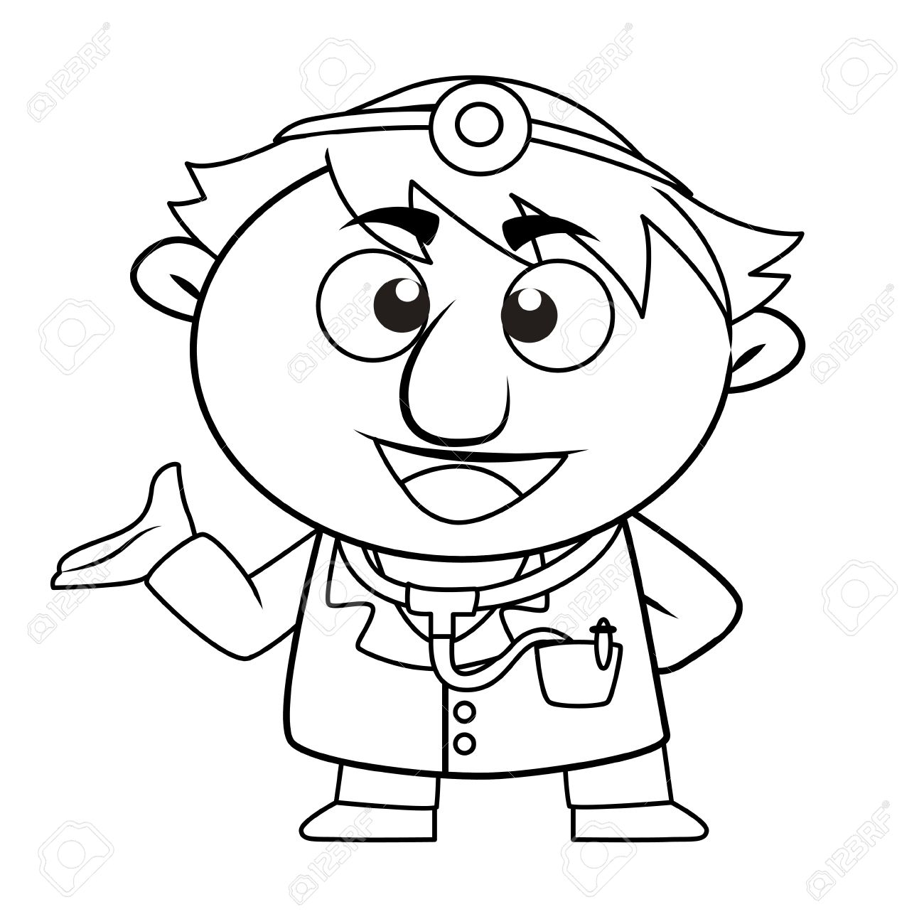 Black And White Doctor Clipart.